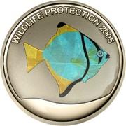 5 Francs (African Moony Fish) – reverse