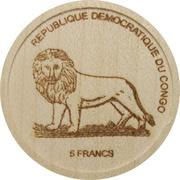 5 Francs (Gorilla) – obverse