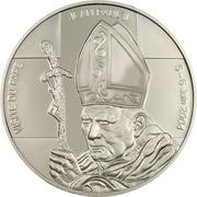 5 Francs (Papal Visit) – reverse