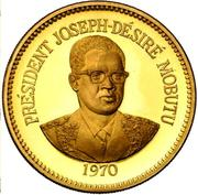 1 Zaïre (5 Years of J.D. Mobutu's Presidency; Gold Proof Issue) – reverse