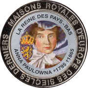 5 Francs (The Netherlands - Queen Anna Paulowna) – reverse
