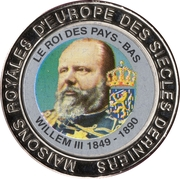 5 Francs (The Netherlands - King Willem III) – reverse