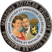 5 Francs (Belgium - Prince Philippe and Princess Mathilde) – reverse