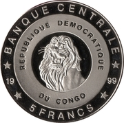 5 Francs (The Netherlands - Prince Willem-Alexander) – obverse