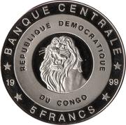 5 Francs (Belgium - King Albert II) – obverse