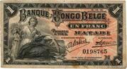 1 Franc (Matadi) – obverse