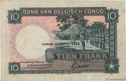 10  Francs (QUATRIEME EMISSION) – reverse
