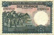 10  Francs (without overprint) – obverse
