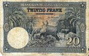 20  Francs (blue; without overprint) – obverse
