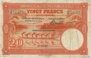 20  Francs (orange; CINQUIEME EMISSION) – obverse