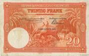 20  Francs (orange; CINQUIEME EMISSION) – reverse