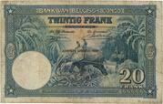 20  Francs (blue; HUITIEME EMISSION) – reverse