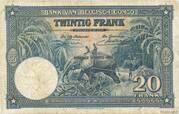 20 Francs (blue; NEUVIEME EMISSION) – reverse