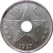 10 Centimes - Albert I – reverse