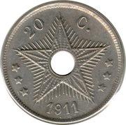 20 Centimes - Albert I – reverse