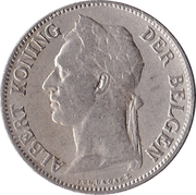 50 Centimes - Albert I (Dutch text) – obverse
