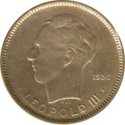 5 Francs - Léopold III – reverse
