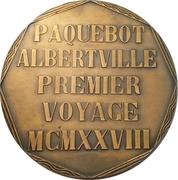 Medal - Maiden voyage of the Albertville – reverse