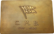 Plaquette - 50th anniversary of the Compagnie Maritime Belge – obverse
