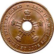 1 Centime - Léopold II – obverse