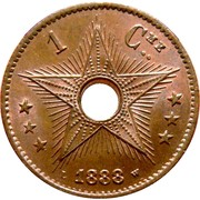 1 Centime - Léopold II – reverse