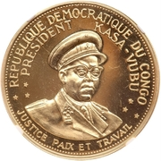 100 Francs (5th Anniversary of independence) – obverse