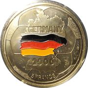 5 Francs (World Football Championship 2006) – reverse