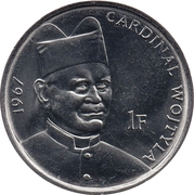 1 Franc (Pope John Paul II in 1967) -  reverse