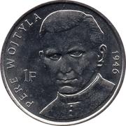 1 Franc (Pope John Paul II in 1946) – reverse