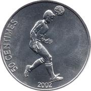 50 Centimes (Soccer) – reverse