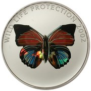 5 Francs (Butterfly red) – reverse