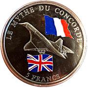 5 Francs  (Concorde) – reverse