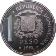 1 Peso (United Nations - Silver Proof Issue) – obverse