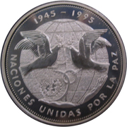 1 Peso (United Nations - Silver Proof Issue) – reverse