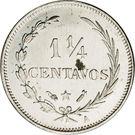 1¼ Centavos – reverse
