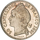 50 Centesimos de Franco – reverse