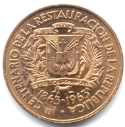 1 Centavo (Restoration of the Republic) – obverse