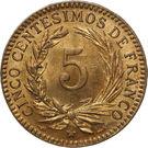 5 Centesimos de Franco – reverse