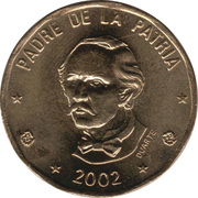 1 Peso (non-magnetic) -  reverse