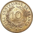 10 Centesimos de Franco – reverse