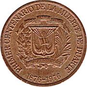1 Centavo (Juan Pablo Duarte) – obverse
