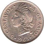 5 Centavos (Restoration of the Republic) – reverse