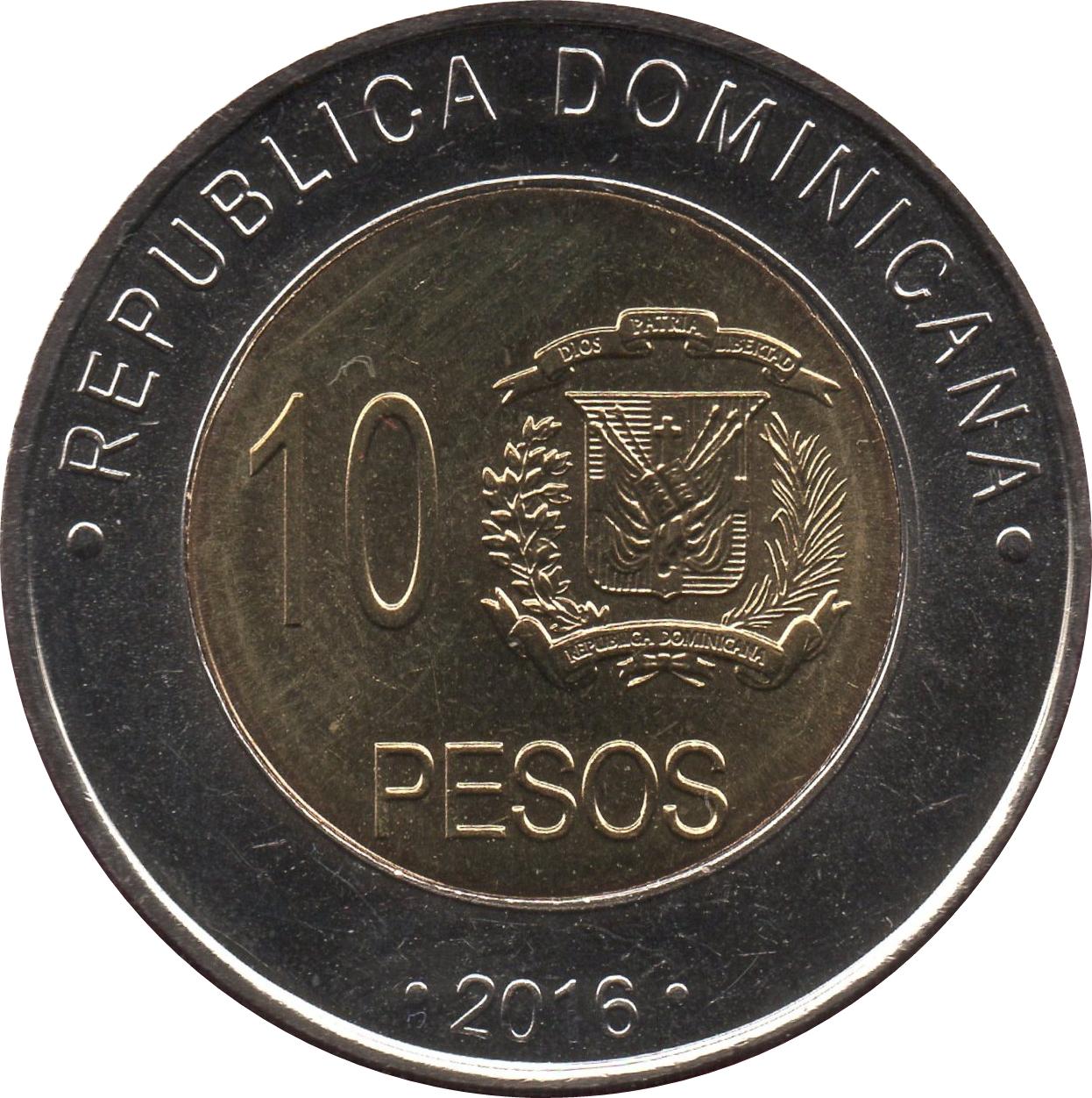 10 Pesos Dominican Republic Numista