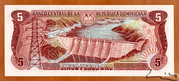 5 Pesos Oro -  reverse