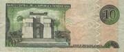 10 Pesos Oro -  reverse