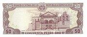 50 Pesos oro -  reverse