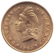 1 Centavo (Restoration of the Republic) – reverse