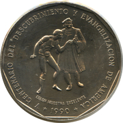 1 Peso (Discovery and Evangelization) -  obverse