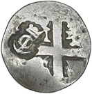 ½ Escalin (Santo Domingo; countermark) – obverse