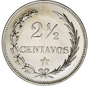 2½ Centavos (Essai) – reverse